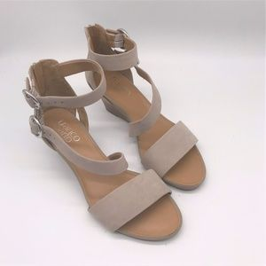 Franco Sarto Womens Double Ankle Strap Sandals 8.5
